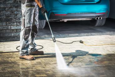 Cobble Driveway Washing