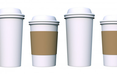 Coffee Cups Isolated on White
