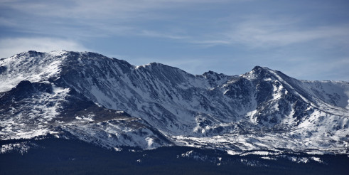 Colorado Mountains in Snow