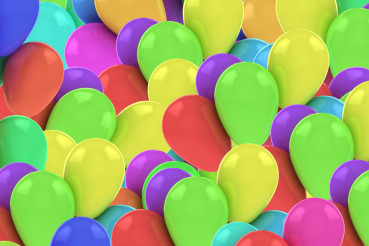 Colorful Balloons Backdrop