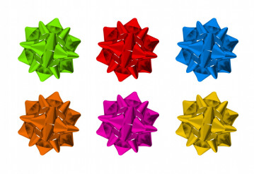 Colorful Bows Isolated