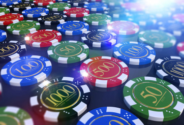 Colorful Casino Chips Table