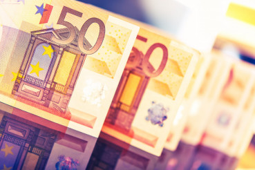 Colorful Euro Banknotes