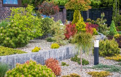 Colorful Rockery Garden with Illumination