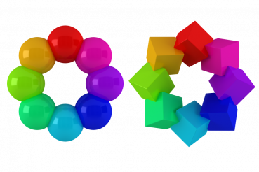 Colorful Shapes PNG