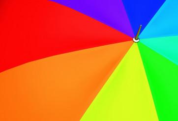 Colorful Umbrella Closeup