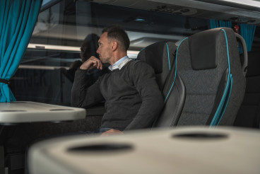 Comfortable Luxury Coach Bus Travel