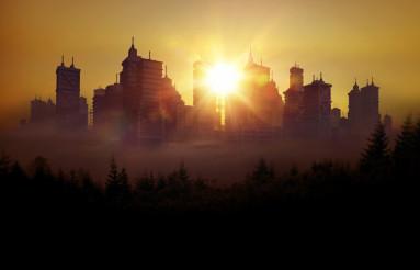 Conceptual City Skyline
