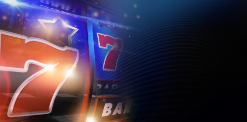 Conceptual Slot Machine Gambling Banner Background