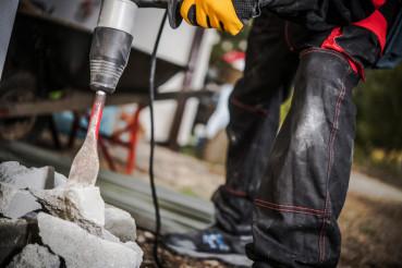 Concrete Breaker in Action