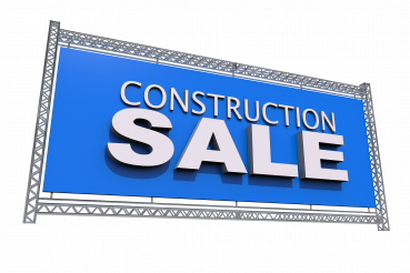 Construction Sale Display PNG
