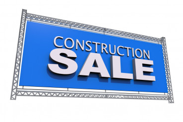 Construction Sale Isolated