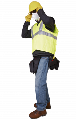 Construction Worker in Safety Mask