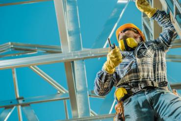 Construction Worker on Duty