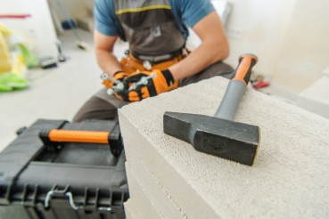 Contractor Preparing For Work