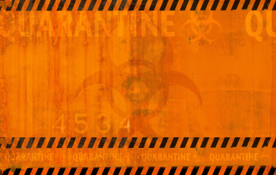 Coronavirus Quarantine Danger Zone Abstract Background