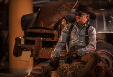 Cowboy and the Classic Car
