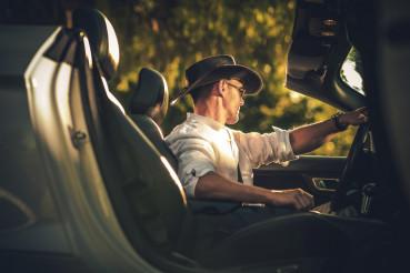 Cowboy Convertible Car Drive