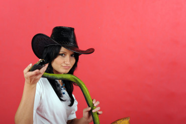 Cowgirl and Snake