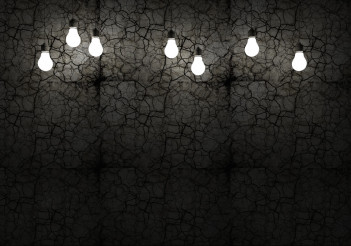 Cracked Wall and Bulbs