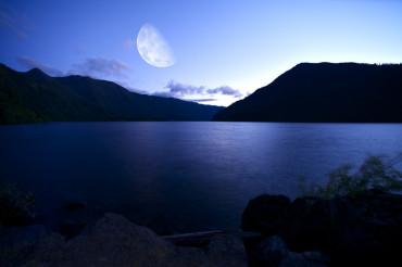 Crescent Lake at Night