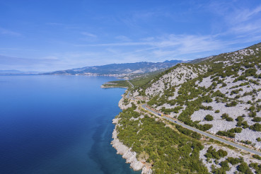 Croatian Mediterranean Sea Coast Aerial