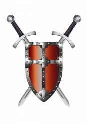 Cross Swords and Shield PNG