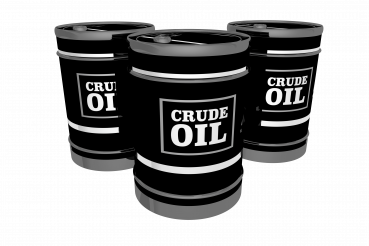 Crude Oil Barrels Isolated 3D PNG Graphic