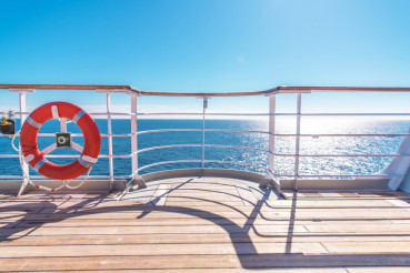 Cruise Ship Wooden Deck