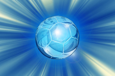 Crystal Soccer Ball Background