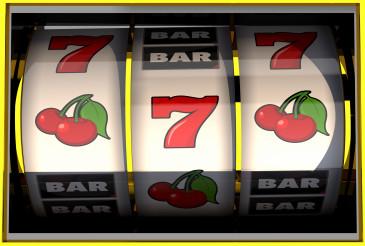 Slot Machine With Symbols On Reel.