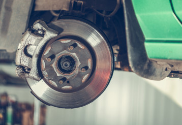 Damaged Car Brake Disc