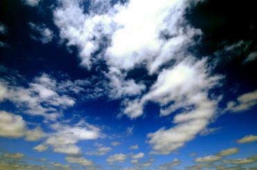 Dark Blue Cloudy Sky