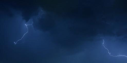 Dark Blue Stormy Sky