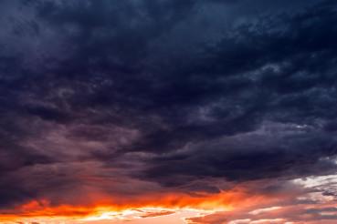 Dark Blue Sunset Cloud