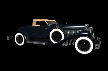 Dark Cabrio Classic Car