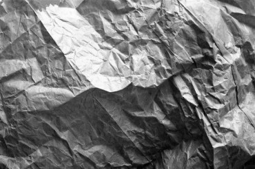 Dark Crumpled Paper Texture