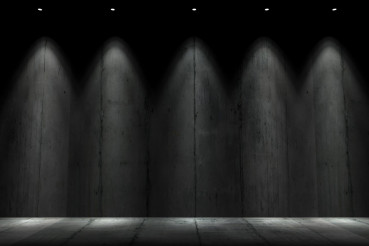 Dark Illuminated Concrete Wall