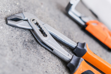 Close Up Of Set Of Pliers.