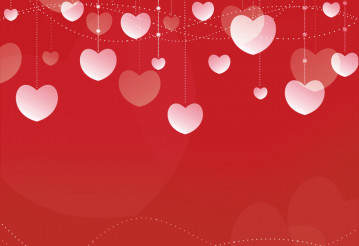 Deep Red Hearts Background