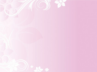 Delicate Pink Background with Floral Elements Vector