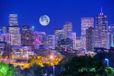 Denver Colorado at Night