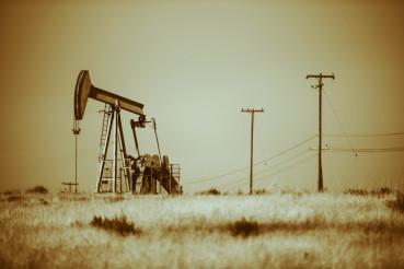 Desert Pumpjack Oil Industry