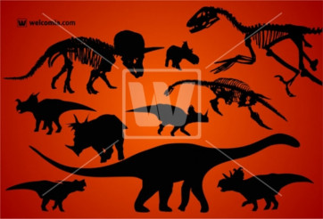 Dinosaurs Silhouettes Kit