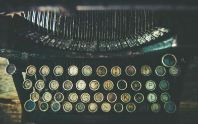 Dirty Aged Typewriter
