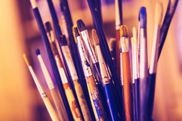 Dirty Oil Paintbrushes
