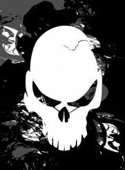 Dirty Skull Vector Illustration