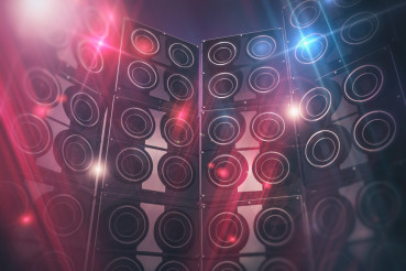 Disco Speakers Background