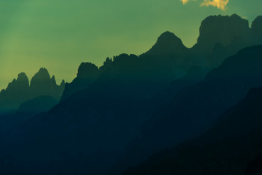 Dolomites Mountains Silhouette
