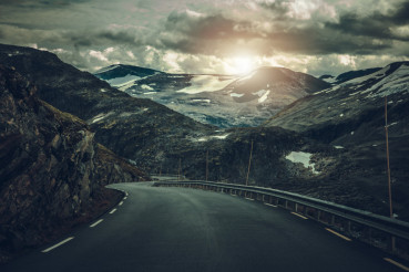 Dramatic Alpine Road in Norway